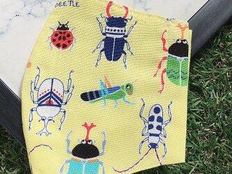 立体マスク キッズ オトナ 昆虫 カミキリムシ カブトムシ クワガタ てんとう虫の画像