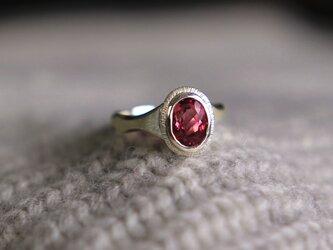 Ripples ring ⭐︎ 大粒ピンクトルマリンのさざなみリングの画像