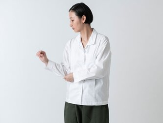 木間服装製作 / shirt white / unisex 2sizeの画像