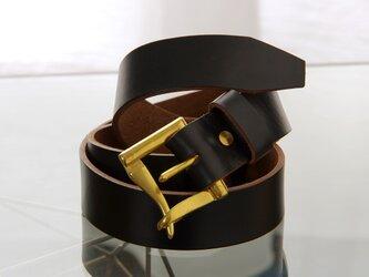 《HORWEEN CHROMEXCEL》ホーウィンクロムエクセル ファイヤーマンバックル/ Leather Belt 35mmの画像