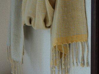 手織りカシミアストール・・バーブシュカ(ナチュラル)の画像