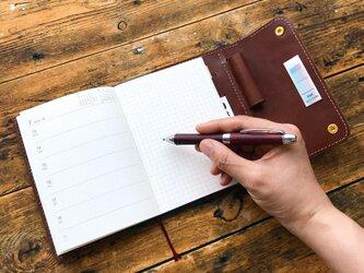 システム手帳みたいに使えるノートカバー【A6】/ 全3色 / スケジュール帳 / レザー / 名入れの画像