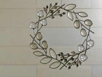 ガラスのリース [冬色の小枝]Lの画像