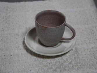 梅花模様のコースター付きデミタスカップの画像