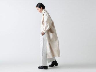 【再入荷】木間服装製作 / coat 帆布 オフホワイト / unisex 1sizeの画像