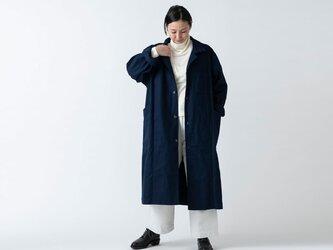 木間服装製作 / coat 帆布 ネイビー / unisex 1sizeの画像