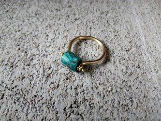 ブルーアパタイトのリング の画像