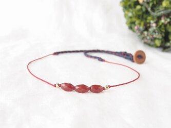 Red Rice Short Necklace(レッドアゲート)の画像