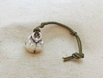 銀製の鈴 『 四葉の玉 』 (シルバー925) 根付・帯飾りの画像
