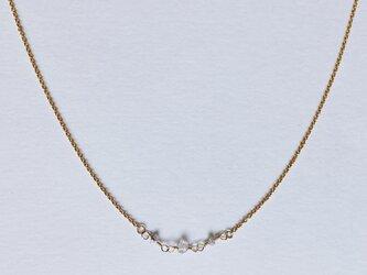 天然石ダイアモンドネックレスの画像