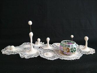 15.手編みの立体ドイリー〈M〉の画像