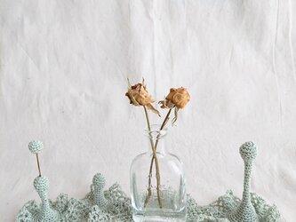 20.レース編みの立体オブジェa〈ミントグリーン〉の画像