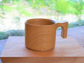【☆人気シリーズ・父の日のプレゼントに】たっぷり入る 木製マグカップ wooden mag タモ 0049の画像