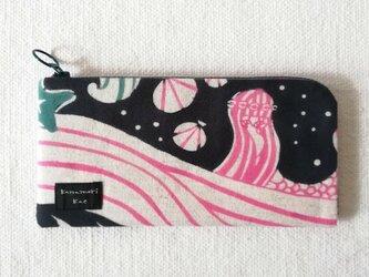 型染め 長財布「人魚の夢」の画像