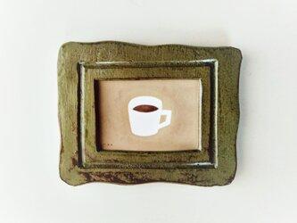 【再販】「コーヒータイム」イラスト原画 ※額縁入りの画像