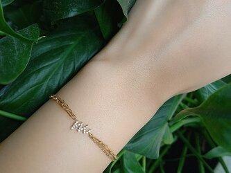 Harvest K18 イニシャルダイヤモンドブレスの画像