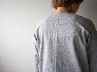 pablo cotton/center back long sleeve tshirt /gray/size1・2・ 3の画像