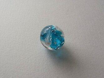 くらげ球・青・ガラス製・とんぼ玉の画像