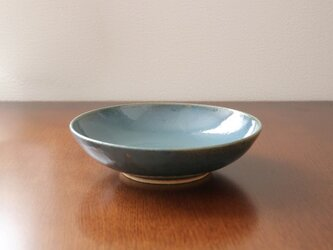 藍色乳濁釉の平鉢 * 2の画像