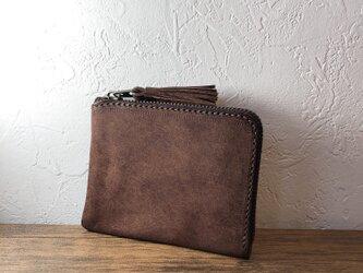 タッセルミニ財布M ヴィヴィドダークブラウンの画像