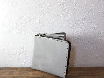 タッセルミニ財布S マイネブルーグレーの画像