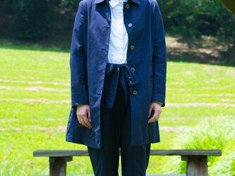 unisex coat bansyuori 裏地付レディースコートの画像