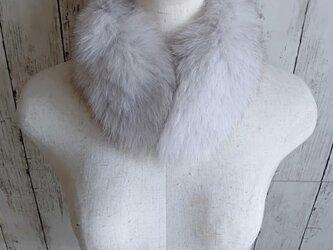¶ new antique fur ¶ ブルーフォックスマグネット留めショールマフラーの画像