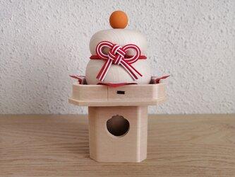木の鏡餅 三宝2.5寸セットの画像