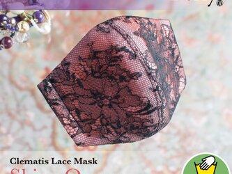 PSNY クレマティスレース(&オレンジ) 花粉 黄砂 洗えるフィルター入り 立体 マスク 大人用 送料無料の画像