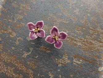 小さい花のpieace/earring (紫)の画像