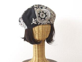 着物リメイク ベレー帽の画像