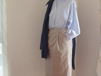 コーデュロイタイトスカート ライトベージュの画像