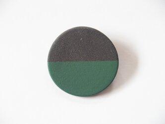 POINT HALF brooch Black / Greenの画像
