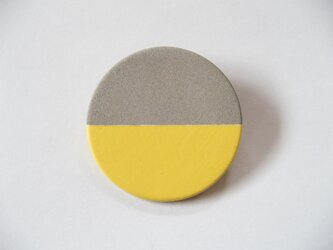 POINT HALF brooch Gray/ Yellowの画像