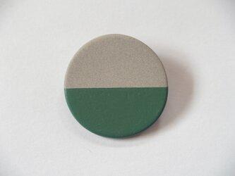 POINT HALF brooch Gray/ Greenの画像