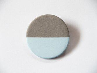 POINT HALF brooch Gray/ Blueの画像