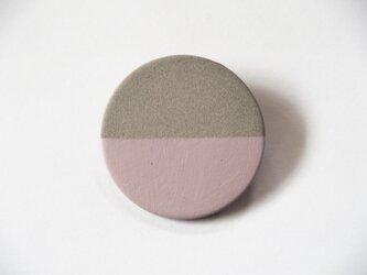 POINT HALF brooch Gray/ Pinkの画像