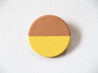 POINT HALF brooch Red/ Yellowの画像