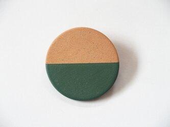 POINT HALF brooch Red/ Greenの画像