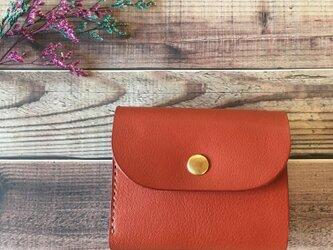 オイルレザーコンパクト財布 栃木レザーの画像