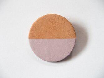 POINT HALF brooch Red/ Pinkの画像