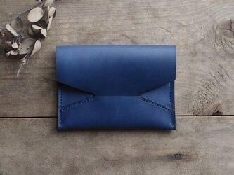 藍染革[migaki] 封筒型名刺入れの画像
