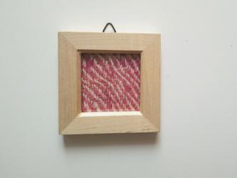 再販 北欧風ホームスパンの手織りミニフレーム Eの画像