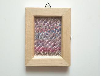 北欧風ホームスパンの手織りミニフレーム 長方形 Aの画像
