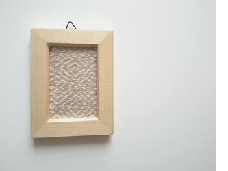 北欧風 手織りミニフレーム 長方形 Bの画像