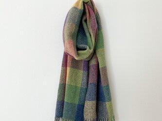手織りのマフラー[3]の画像