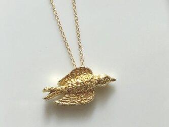 鳥のネックレス/gold colorの画像