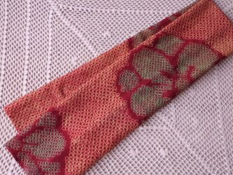 古布のマフラー・紅 花の画像
