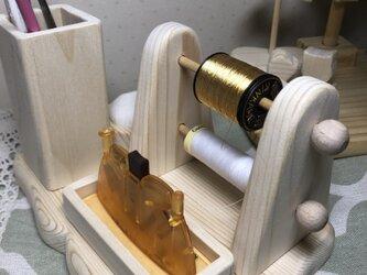 白木のヨコ型スプールホルダーH(糸通し器用)の画像