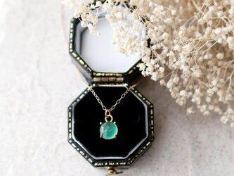 【K10】ブラジル産宝石質エメラルドの一粒ネックレス*5月誕生石の画像